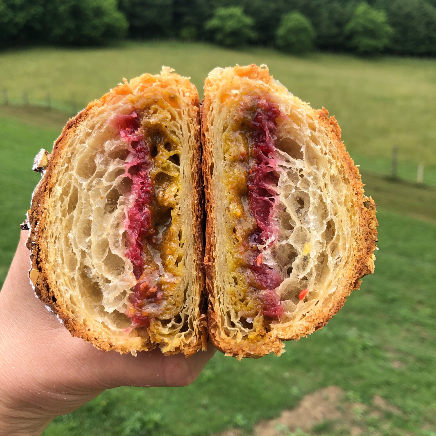 Pistachio And Raspberry Croissant-Saturday Only Item