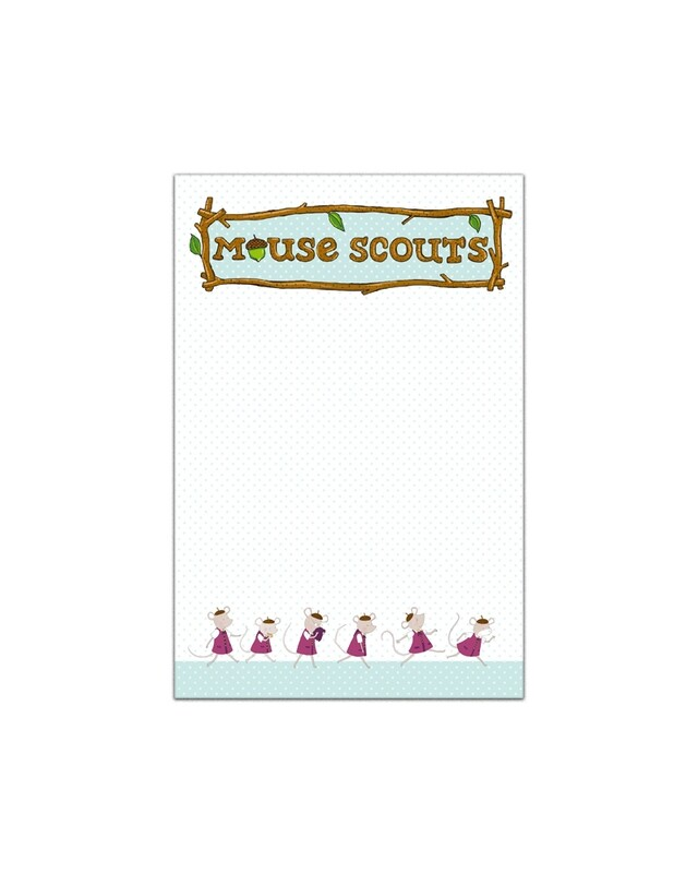 Mouse Scout Note Pad 4x6
