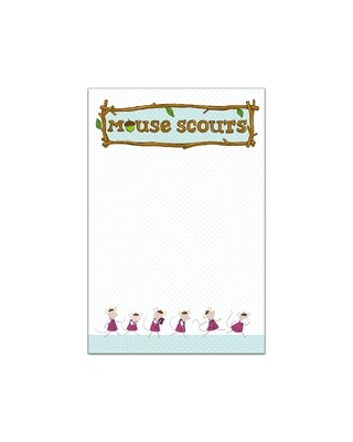 """Mouse Scout Note Pad 4x6"""""""