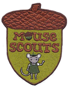 Mouse Scouts Acorn Patch; Pack of 10 badges