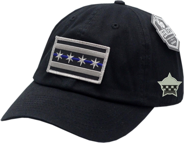 Chicago Flag Blue Line Hat Slouch Buckle Back