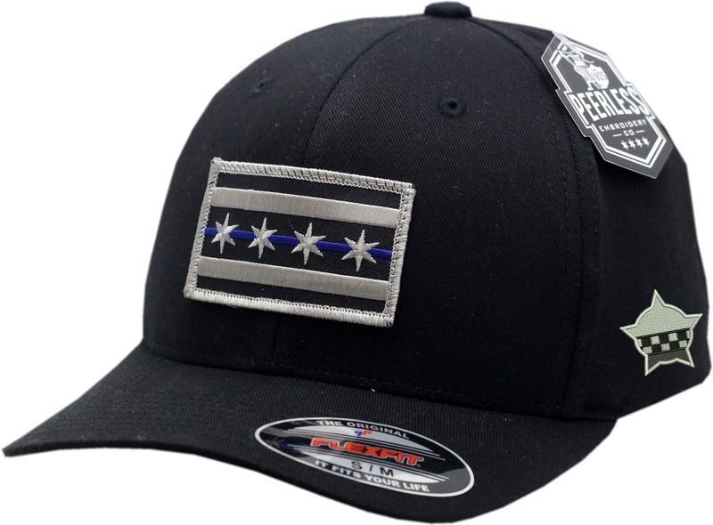 Chicago Flag Blue Line Flex Fit Hat