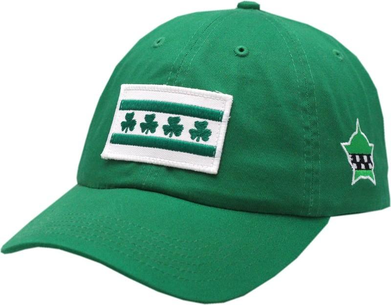 Chicago Flag Shamrock Hat Buckle Back Green