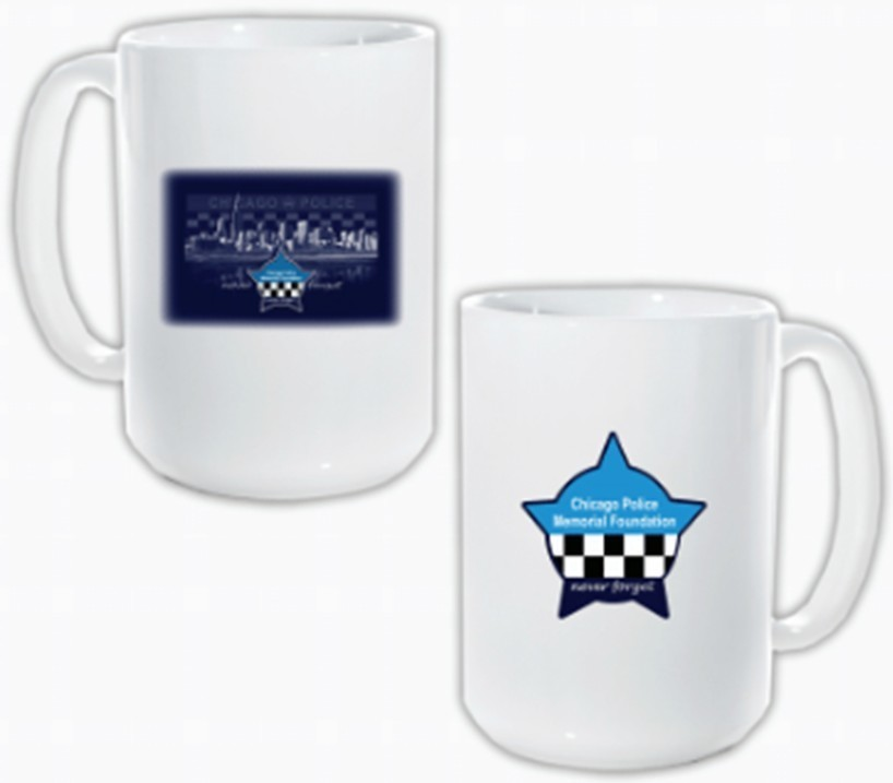 CPD Memorial Skyline Coffee Mug 2-Sided 15oz.