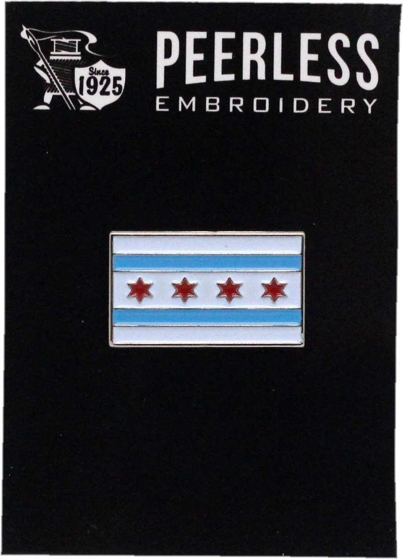 Chicago Flag Lapel Pin
