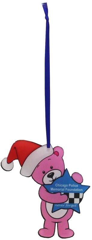CPD Memorial Acrylic Ornament Pink Bear