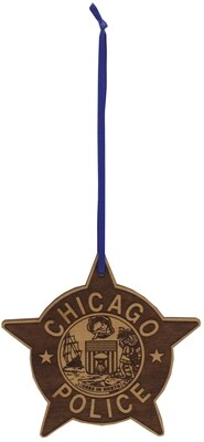 CPD Star Wood Ornament