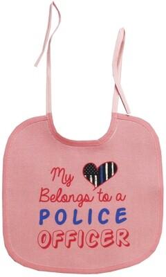 My Heart Belongs To A Police Officer Bib