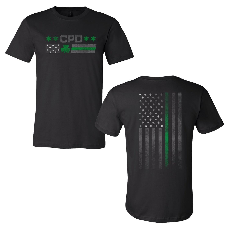 CPD Irish American Flag T-Shirt 2-Sided