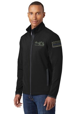 Run To Remember Blue Line Flag Sport-Wick® Stretch Contrast Full-Zip Jacket ST853