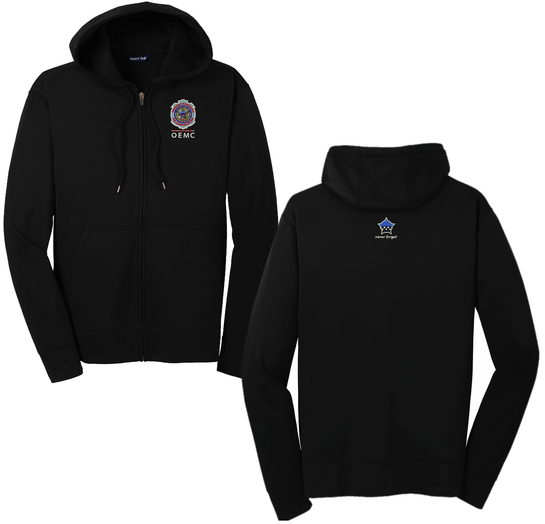 OEMC Sport-Wick® Fleece Full-Zip Hooded Jacket ST238