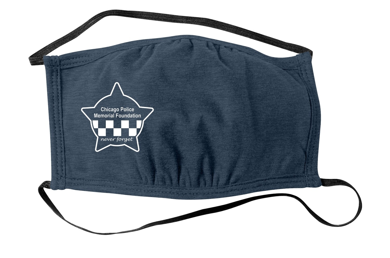 CPD Memorial Three-Ply Face Mask Heather Navy