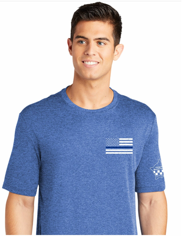 CPD Memorial Blue Line Performance T-Shirt