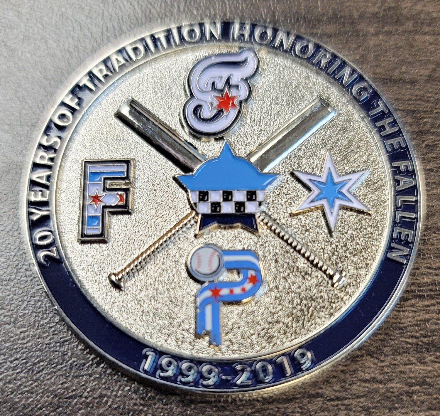 CPD Baseball Finest Challenge Coin 2-Sided