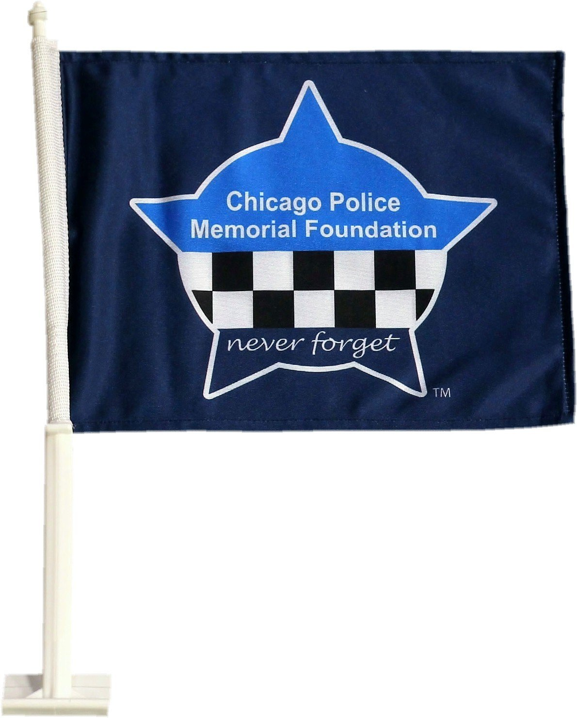 CPD Memorial Heavy Duty 2-Sided Car Flag