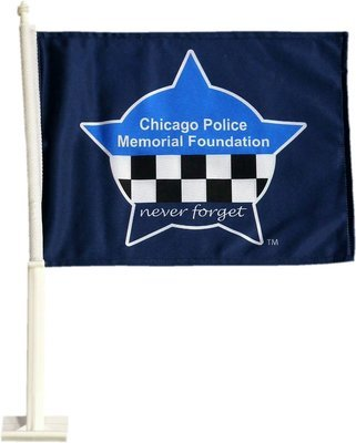 CPD Memorial Heavy Duty 2-Sided Car Flag