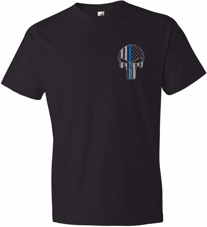 Chicago Police Memorial Foundation Punisher Blue Line T-Shirt