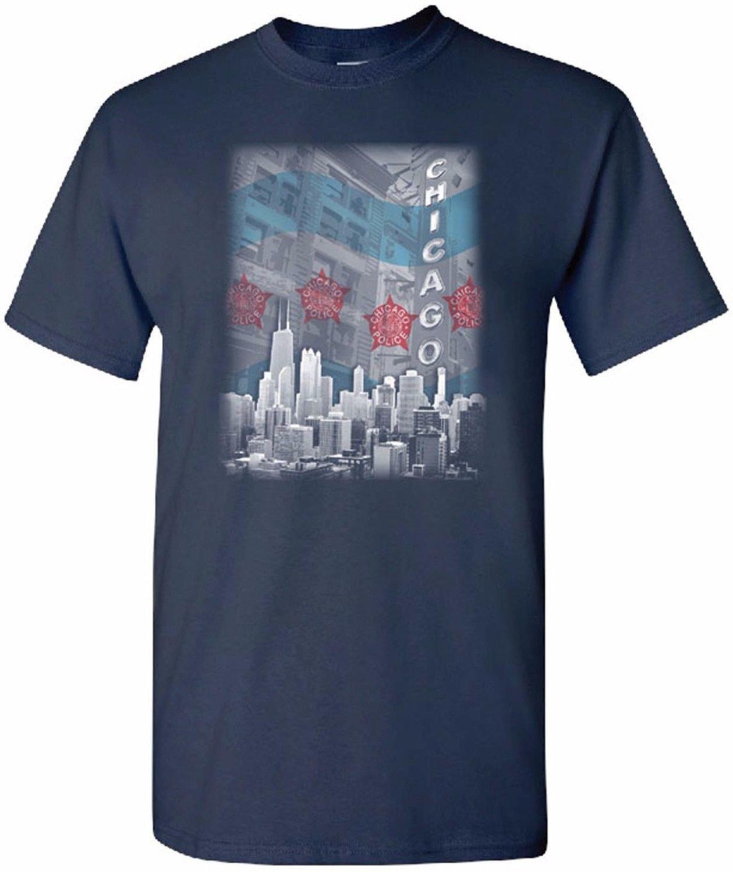 Chicago Police Memorial Foundation Waving Flag T-Shirt