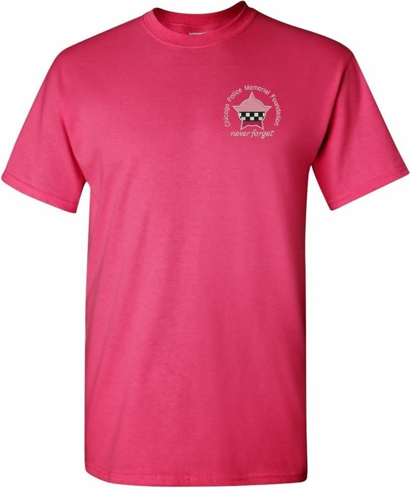 CPD Memorial Foundation Pink T-Shirt W/Embroidered Chest Logo