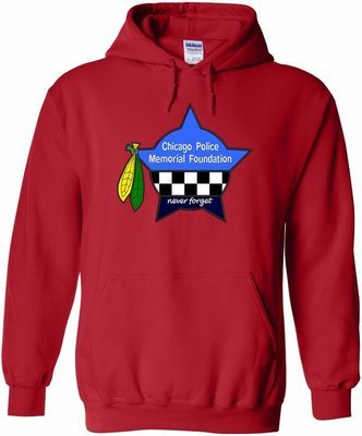 CPD Memorial Hawks Pullover Hoodie Red 18500