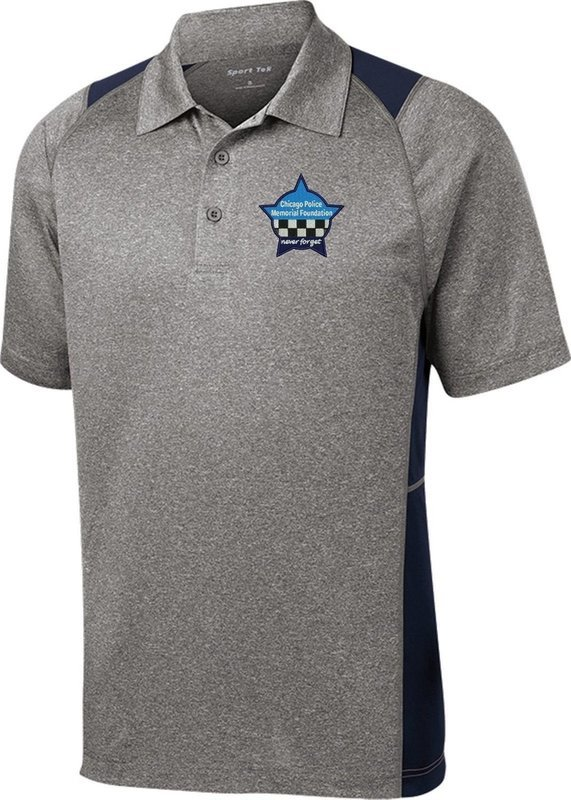 Chicago Police Memorial Colorblock Contender Polo Grey/Navy ST665