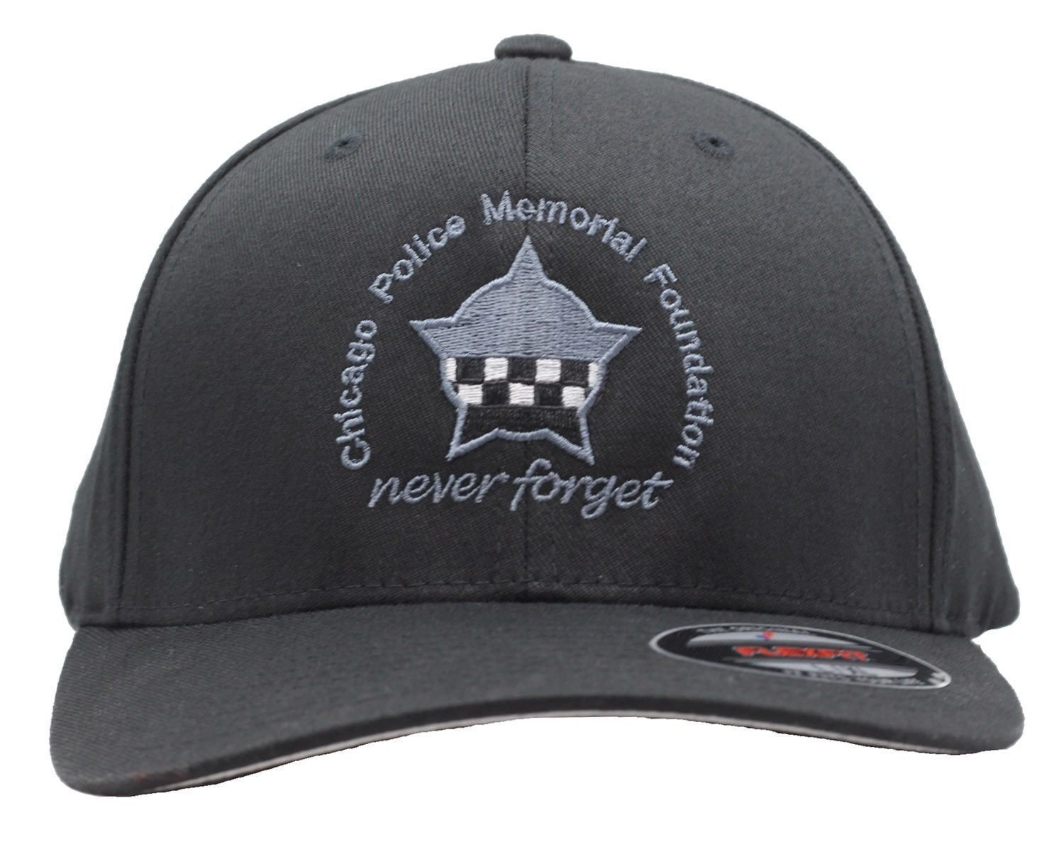CPD Memorial Black Flexfit Hat W/Embroidered Star