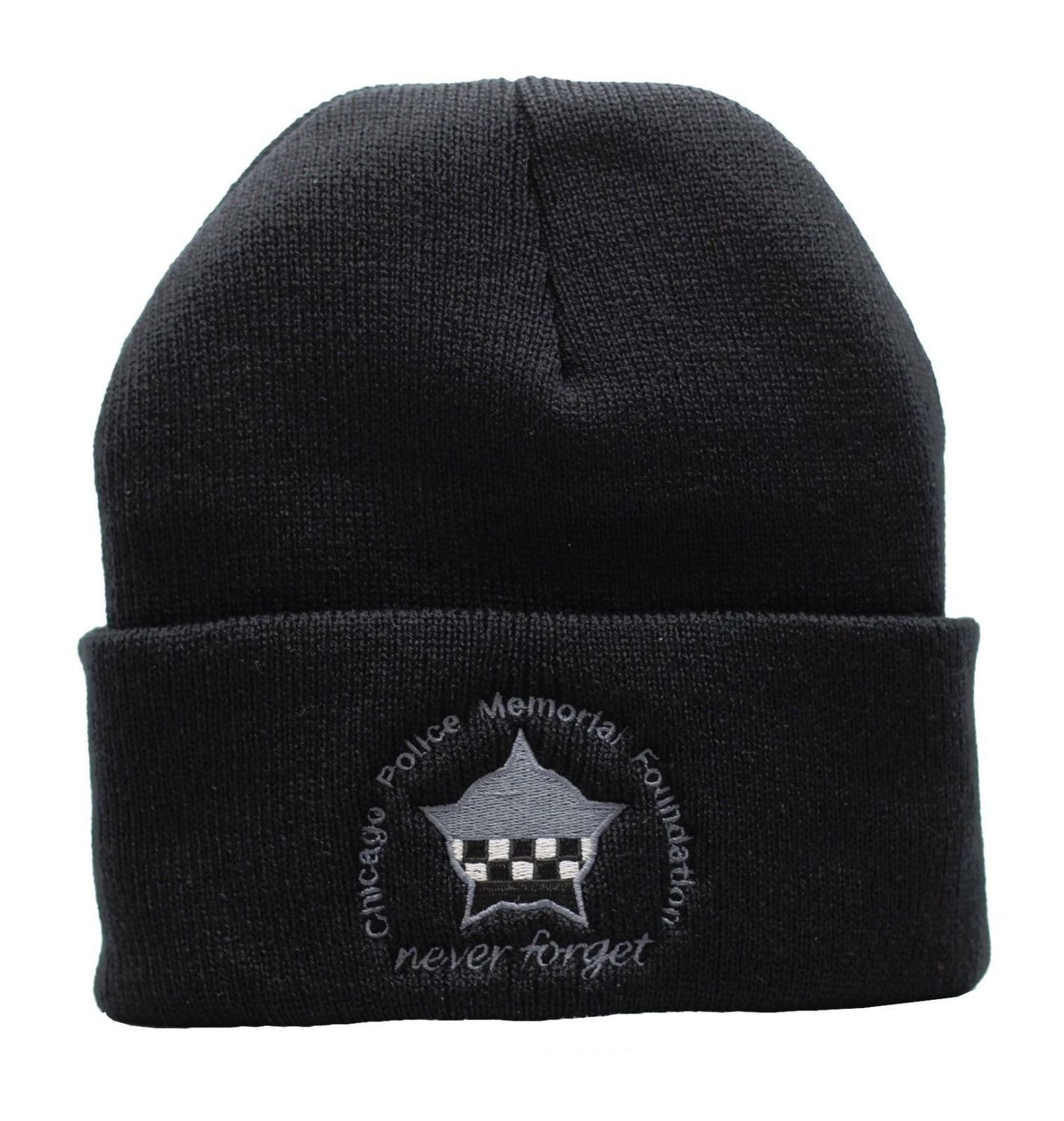 CPD Memorial Never Forget Sub-dued Black Cuffed Knit Cap