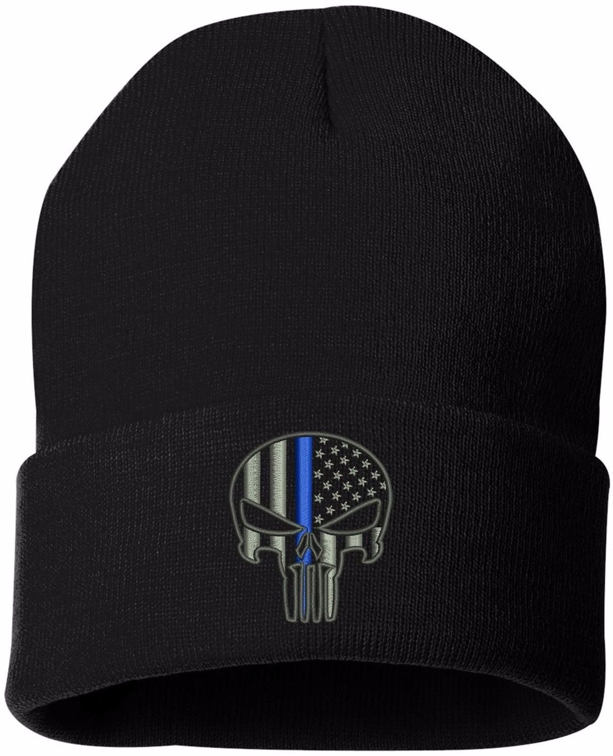 CPD Memorial Foundation Punisher Knit Hat Cuffed