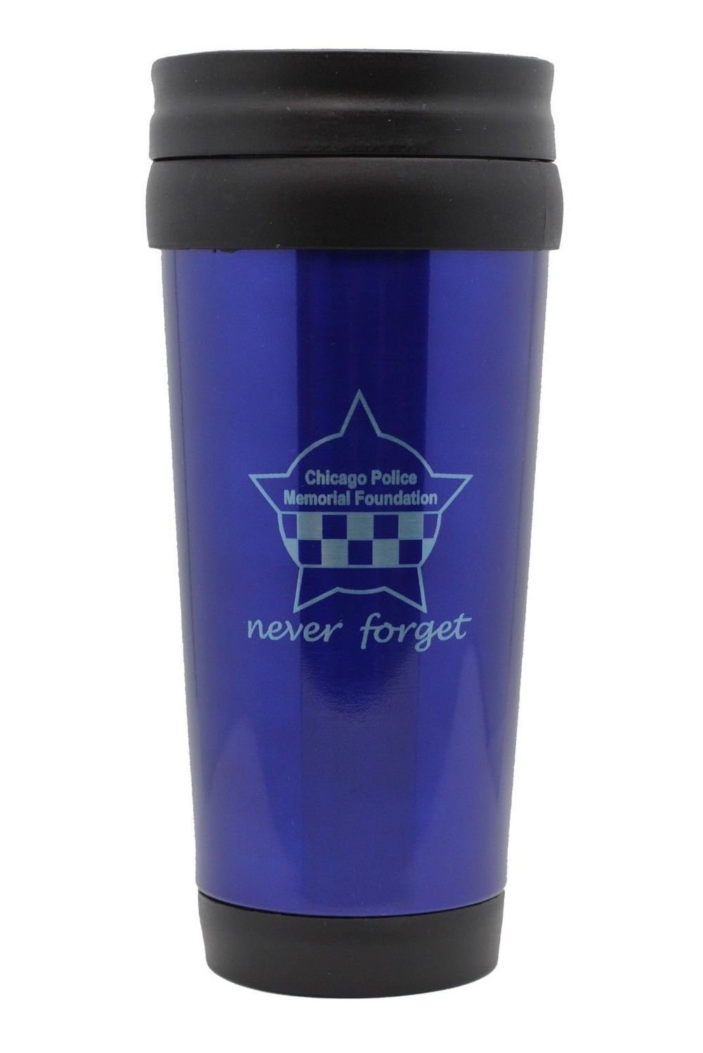 CPD Memorial Never Forget Blue Travel Mug