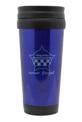 CPD Memorial Never Forget Blue Travel Mug