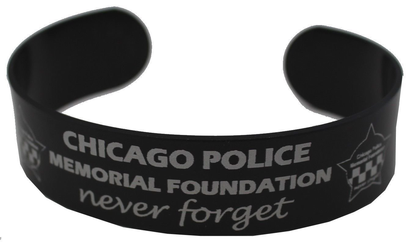 CPD Memorial Black Aluminum Laser Engraved Wristband