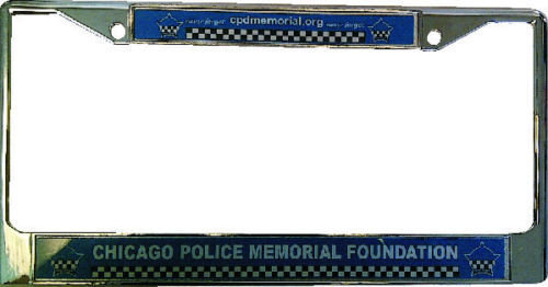 Chicago Police Memorial Metal Chrome Frame