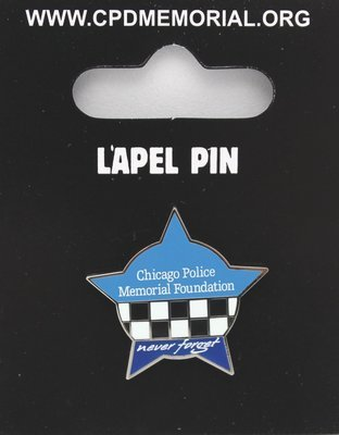 Chicago Police Memorial Star Lapel Pin