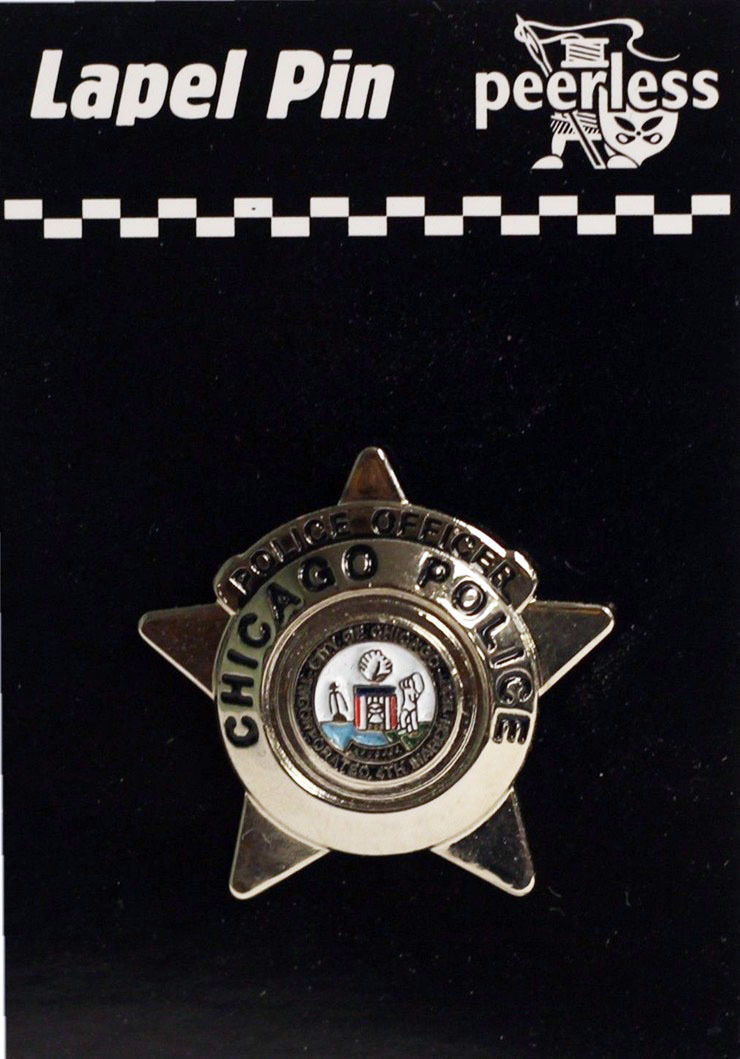 City Of Chicago Police Star Lapel Pin