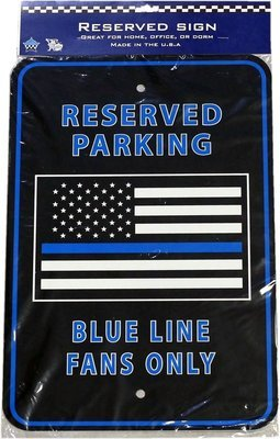 Chicago Police Memorial Foundation Parking Sign American Flag Blue Line