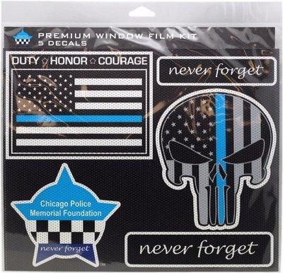 Chicago Police Memorial Foundation Premium Window Film Kit 5 Pcs
