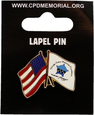 CPD Memorial & American Flag Lapel Pin
