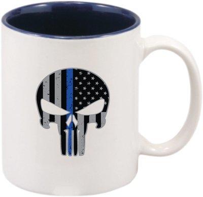 Punisher Blue Line Mug 11 oz.