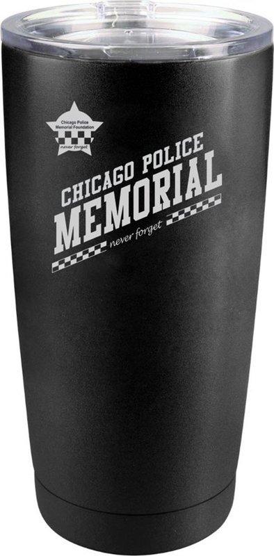 CPD Memorial Tumbler Coated Black 20oz.
