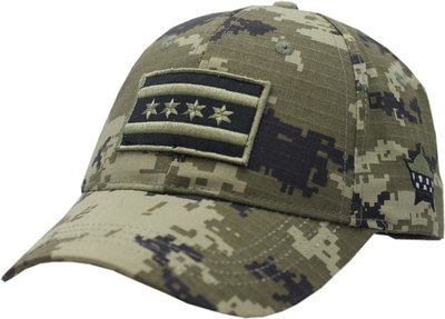 CPD Memorial Chicago Flag Hat Digi Green Camouflage