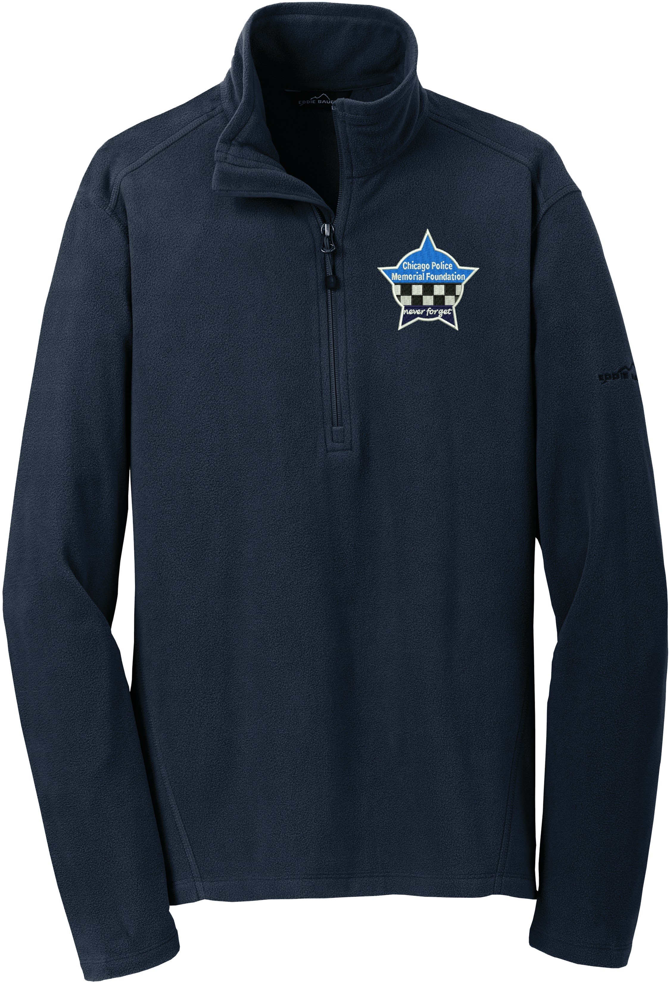 eddie bauer cpd memorial microfleece jacket 1 2 zip eb226 chicago police memorial foundation eddie bauer cpd memorial microfleece jacket 1 2 zip eb226