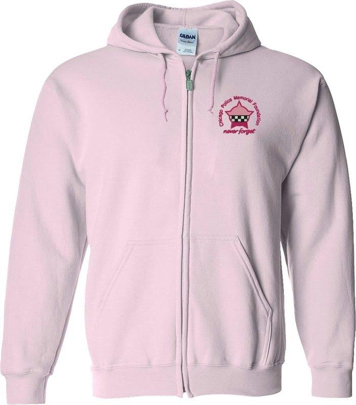 CPD Memorial Full Zip Sweatshirt W/Embroidered Star Pink 16000