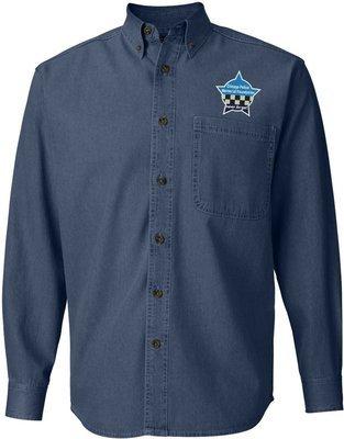 CPD Memorial Button Down Long Sleeve Shirt Denim