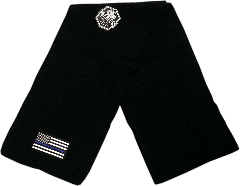 American Flag Blue Line Knit Scarf