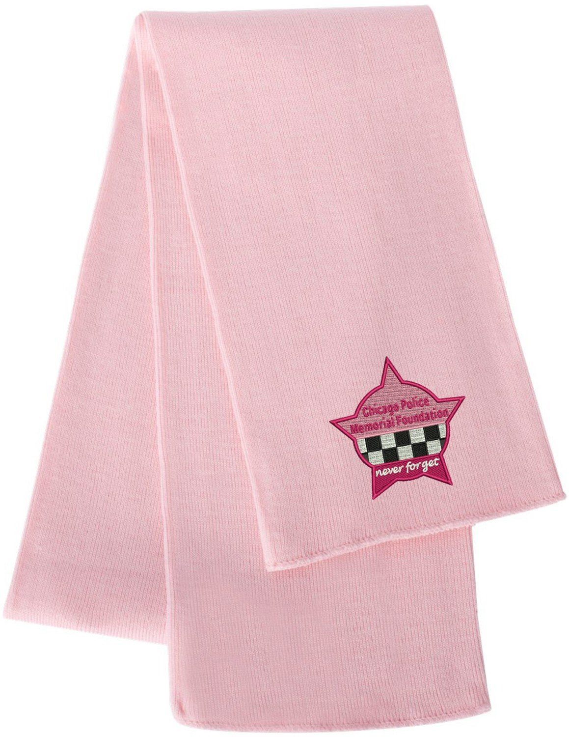 CPD Memorial Knit Scarf Pink Star