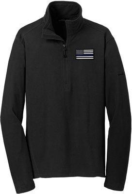 Eddie Bauer American Flag Blue Line Microfleece Jacket 1/2 Zip EB226