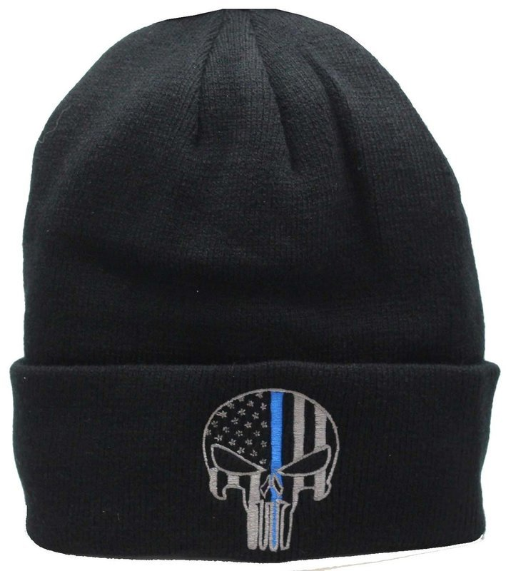 Punisher Blue Line Cuffed Knit