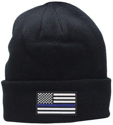 American Flag Blue Line Cuffed Knit