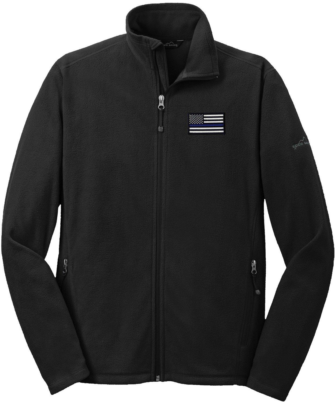 Eddie Bauer American Flag Blue Line Microfleece Full Zip Jacket EB224