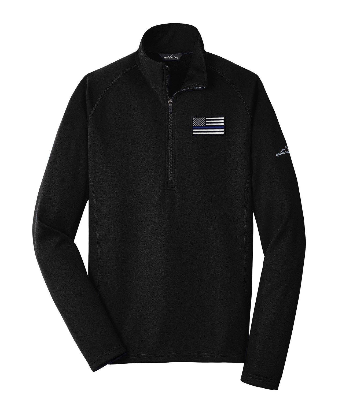 Eddie Bauer American Flag Blue Line Base Layer Fleece 1/2 Zip EB236